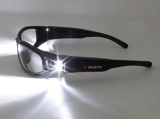 защитные строительные очки с подсветкой
