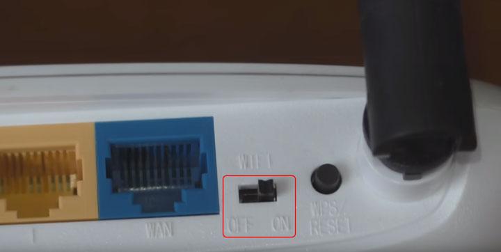 переключатель WiFi на роутере