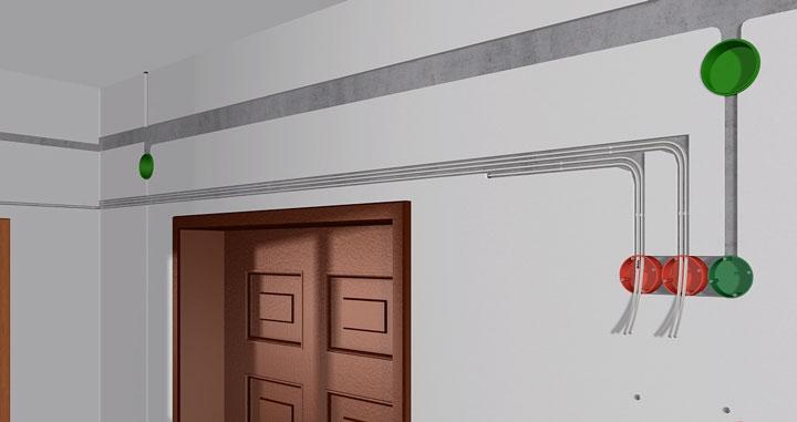прокладка кабелей utp от wifi роутера на комнаты