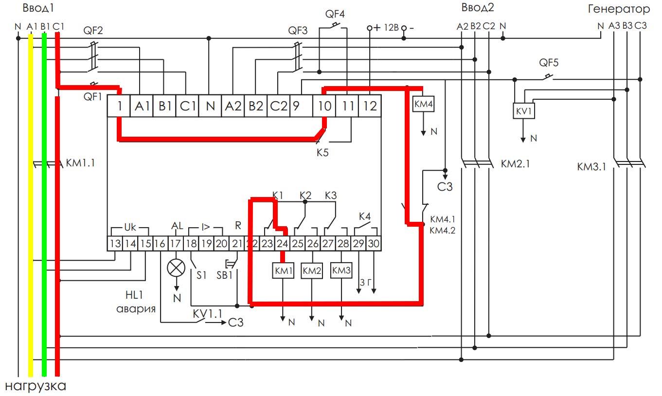 нормальная схема работы AVR 02 для АВР дома