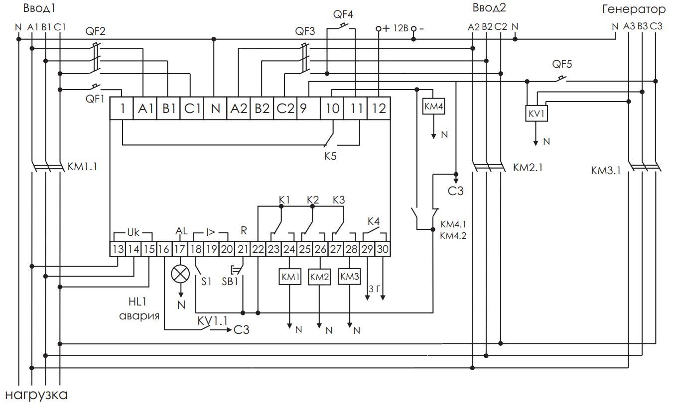 схема АВР собранная на базе AVR-02 от ФИФ Евроавтоматика