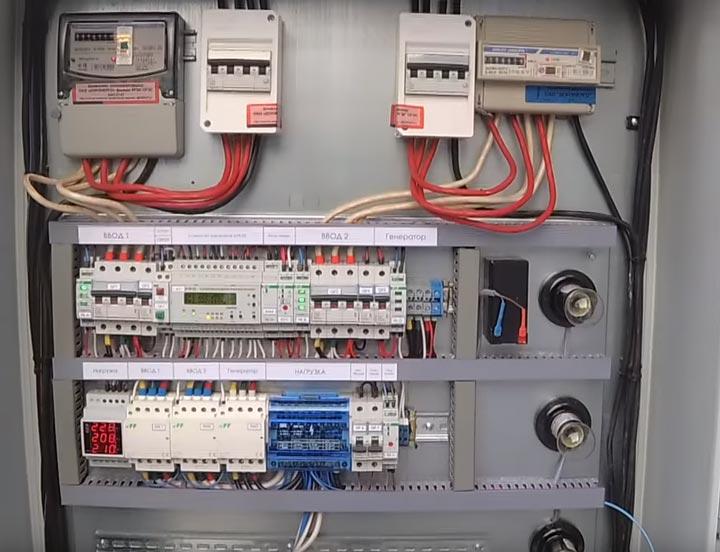 авр для двух вводов в дом и генератора