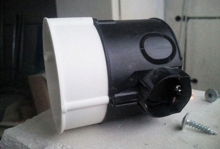 проставочное кольцо удлинитель распредкоробки для штукатурки вровень со стеной