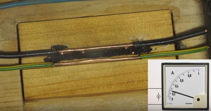 искры при замыкании проводки срабатывание узис