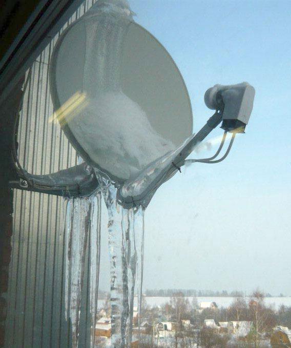 что ухудшает сигнал на спутниковой тарелке