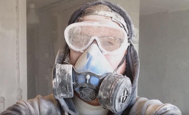 какую маску для защиты от пыли выбрать при штроблении стен