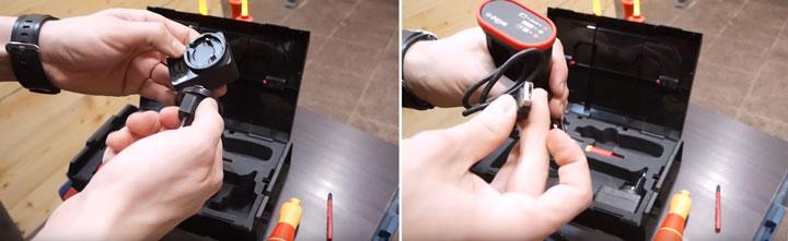подключение зарядки от аккумуляторной отвертки Wiha SpeedE от 220В и от USB