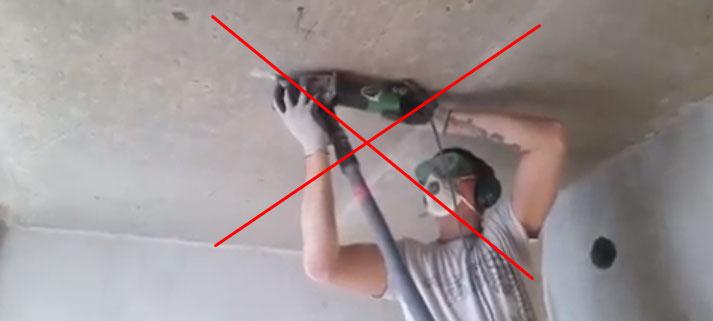 почему нельзя резать штробы в потолке