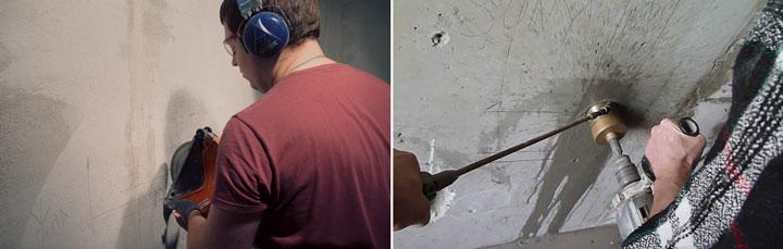 как лучше высверливать подрозетники или резать стенорезом и штроборезом
