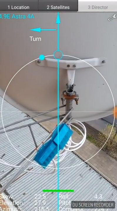 как настроить спутниковую тарелку при помощи смартфона
