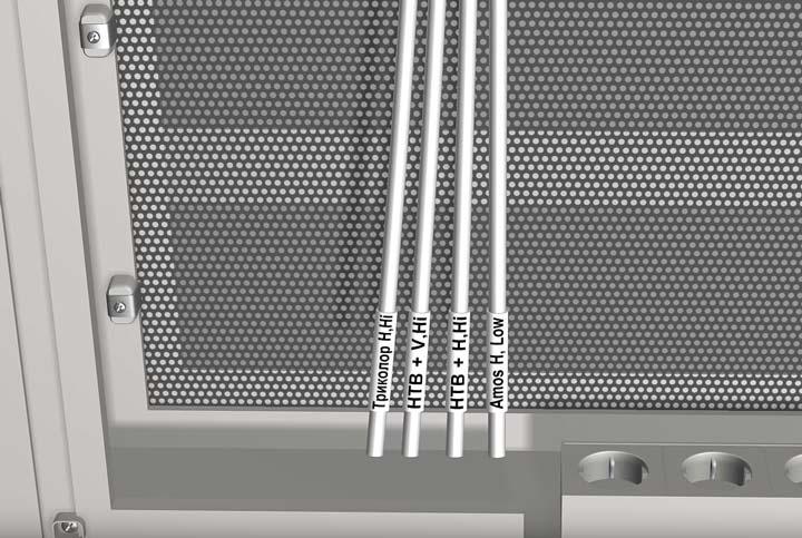 подписанные кабеля от спутниковой антенны