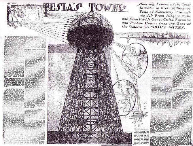 башня тесла для передачи энергии без проводов