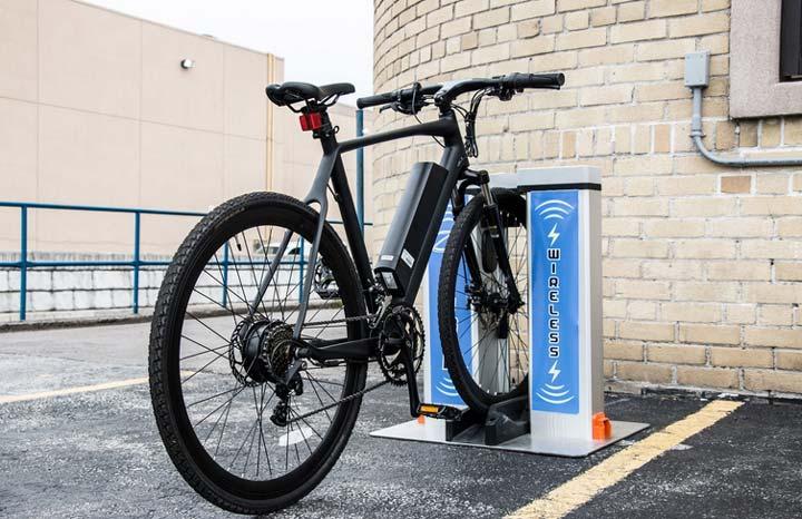 беспроводная подзарядка велосипедов