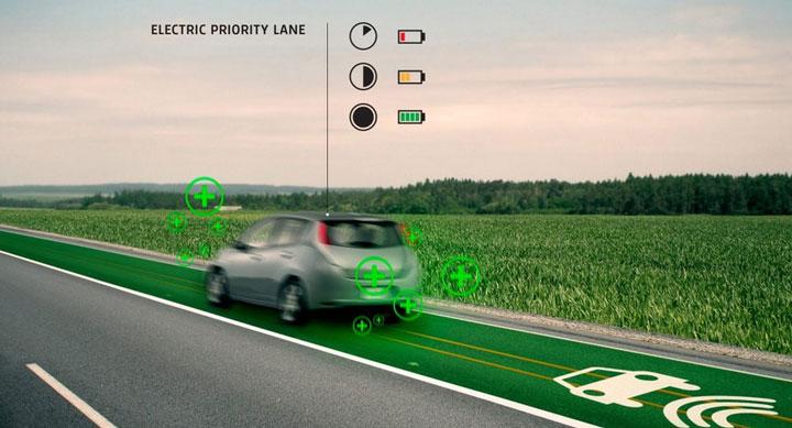 автоматическая беспроводная подзарядка автомобиля при движении по дороге