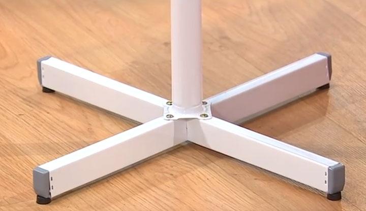 крестообразная ножка напольного вентилятора самая худшая по устойчивости