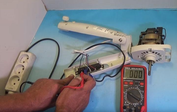 прозвонка скоростей вентилятора мультиметром