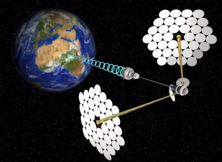 передача солнечной энергии на землю от спутника
