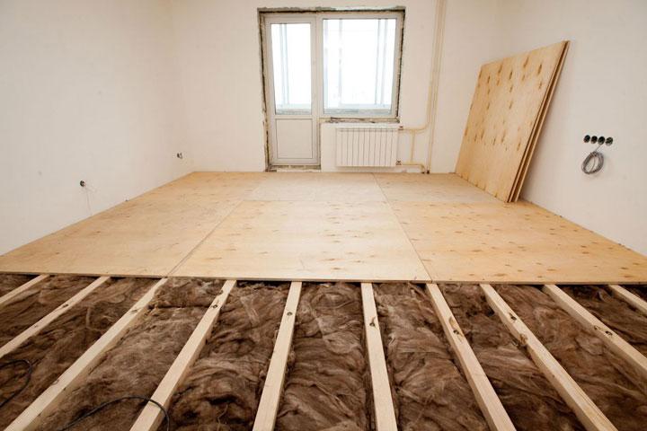 настоящий теплый пол в комнате