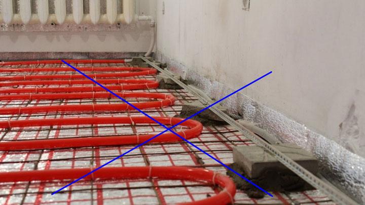 почем у нельзя подключать теплый пол от батарей центрального отопления
