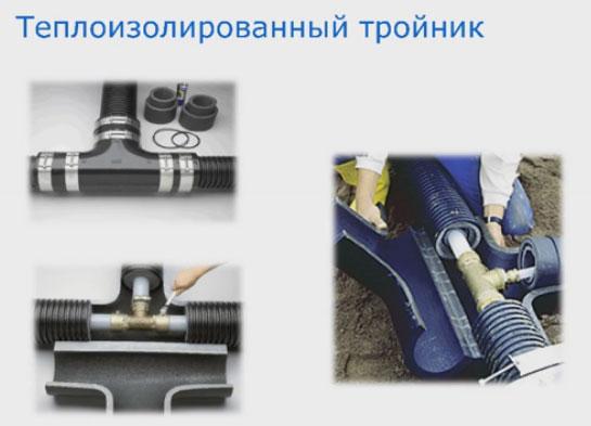 теплоизолированный тройник для труб Uponor