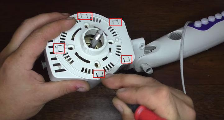 как снять крышку с двигателя напольного вентилятора