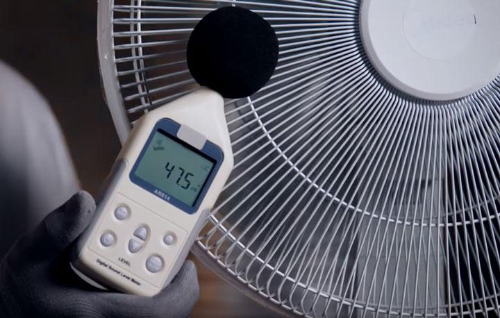 бесшумный режим работы напольного вентилятора сколько децибел