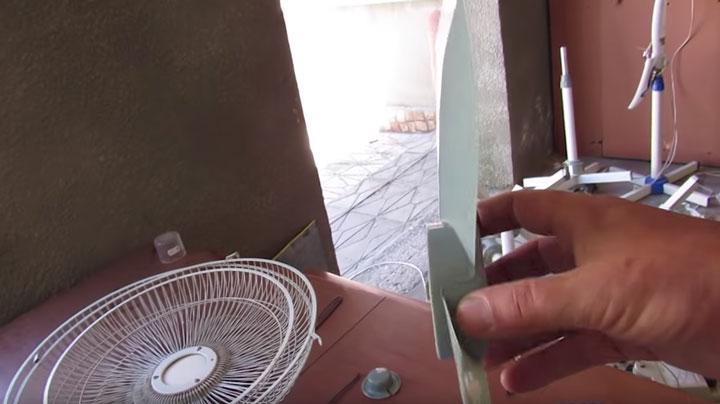 неправильный угол атаки лопастей вентилятора почему не дует