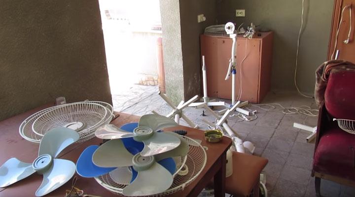 неисправные напольные вентиляторы