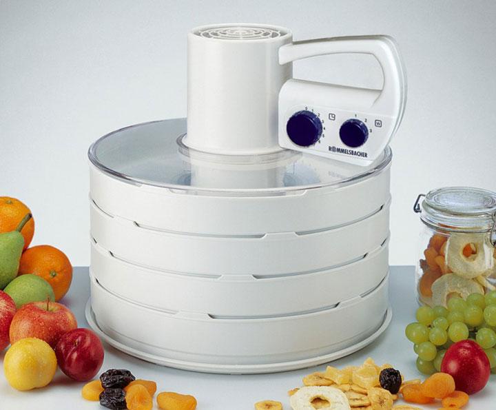 электросушилка для овощей и фруктов с верхним расположением двигателя и тэнов