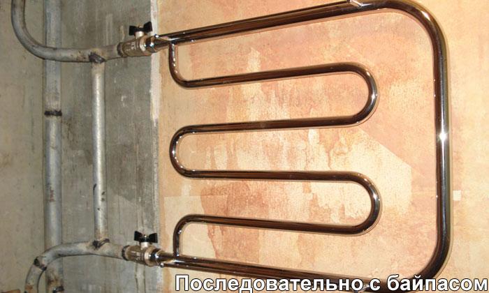 подключение к стояку горячей воды водяного полотенцесушителя
