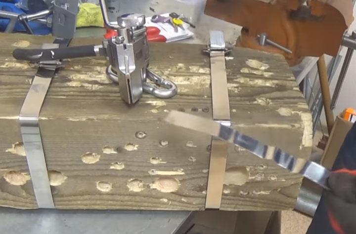 можно ли затянуть бандажную ленту сип храповой машинкой без разрезания ленты от бобины