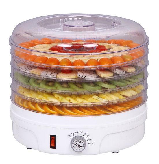 прозрачная электросушилка для овощей и фруктов