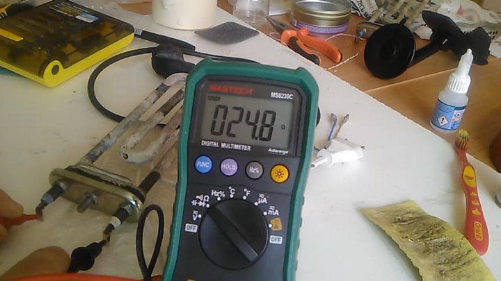 проверка тэна стиральной машинки мультиметром исправный тэн сколько сопротивление
