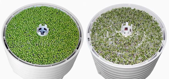 поддодны с мелкой сеткой для ягод у сушилок для овощей и фруктов