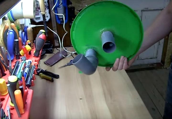 крышка для самодельного циклона под пылесос бытовой