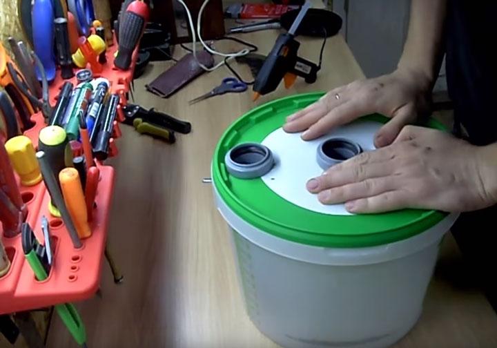 Циклон своими руками с домашним пылесосом