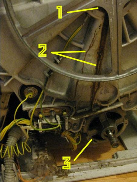 выбивает автомат при включении стиральной машинки из-за повреждения двигателя