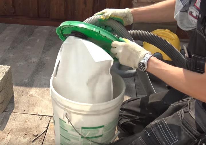 сборка мелкой дисперсной пыли при штроблении бетона бытовым пылесосом модернизация