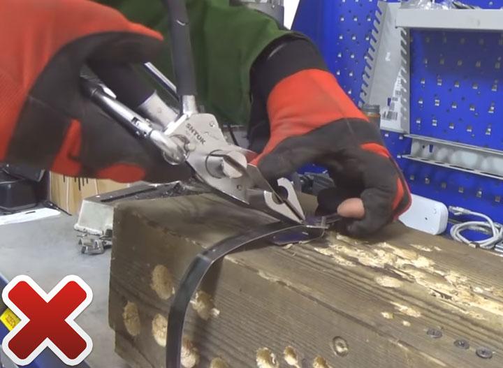 недостатки бандажной машинки для натяжения стальной ленты сип с храповым механизмом