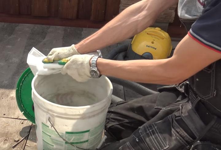 очистка фильтр мешка в строительном пылесосе из бытового