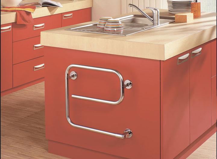 полотенцесушитель для кухни возле раковины