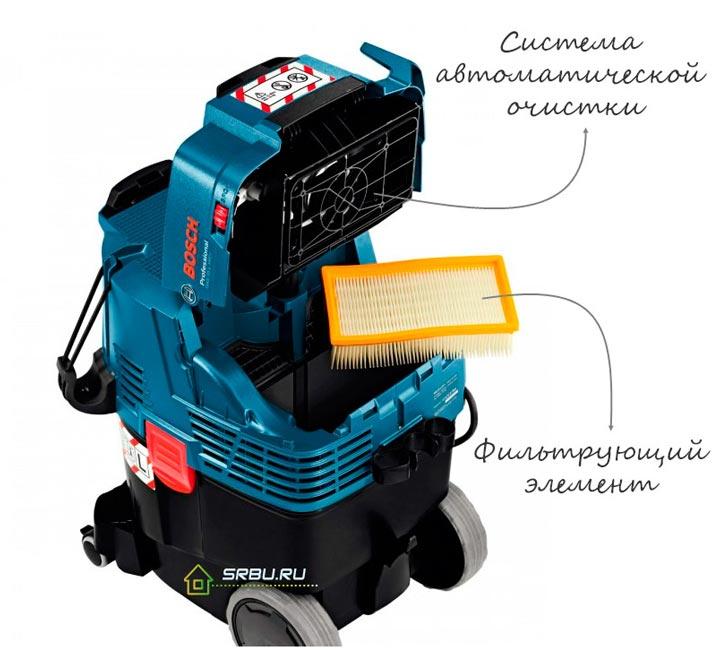 автоматическая очистка и встряхивание у промышленных пылесосов