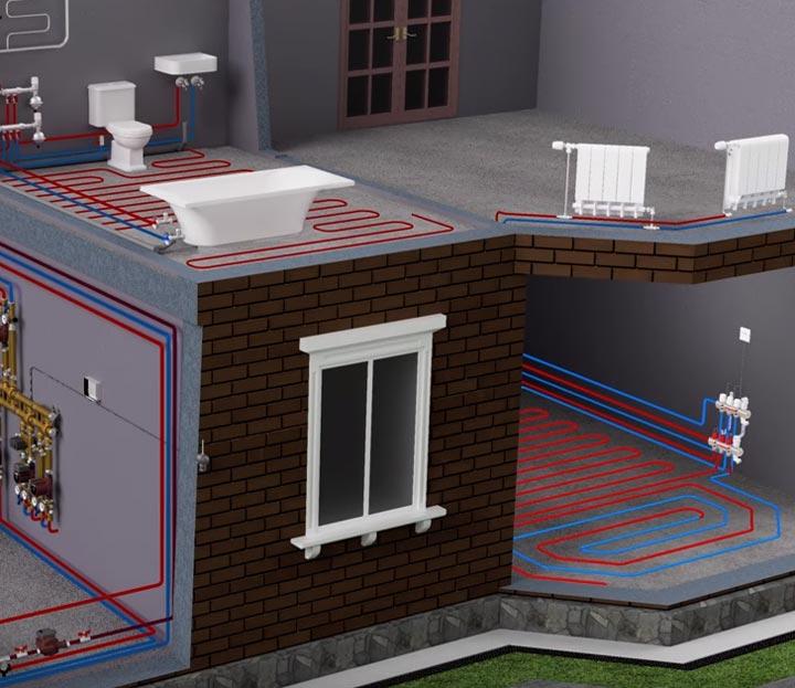 установка термомонтажного комплекта для установки на втором этаже