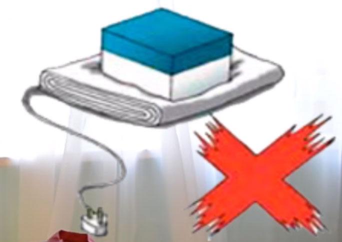 почему запрещено складывать одеяла и простыни с подогревом пополам