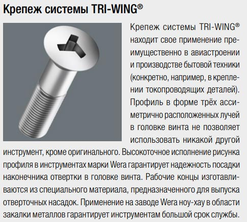 крепеж системы Tri Wing как работает