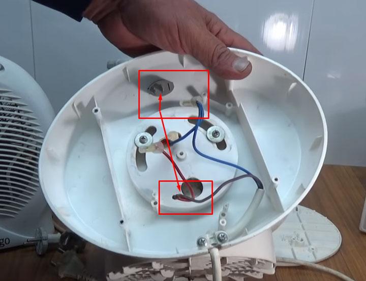 сгорел выключатель на тепловентиляторе
