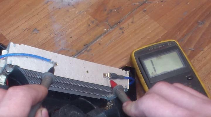 проверка тэна и предохранителей в керамических тепловентиляторах