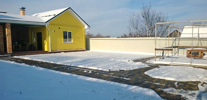 система снеготаяния теплых полов на улице