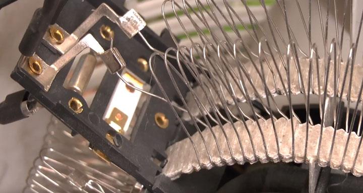 куда подключаются провода от переключателя режимов на тепловентиляторе дуйке