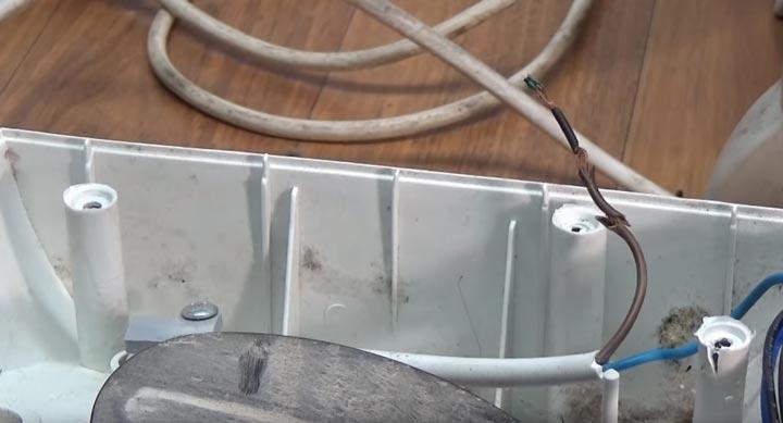 отгоревший провод не работает тепловентилятор